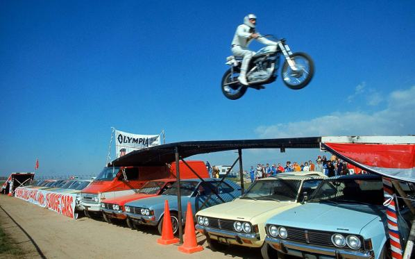Evel Knievel In Flight